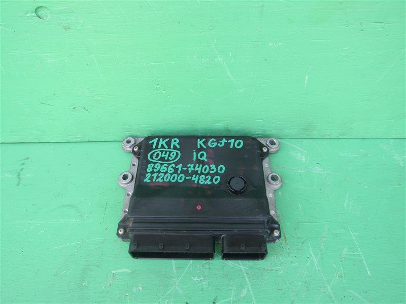 Блок управления efi Toyota Iq KGJ10 1KR-FE 89661-74030