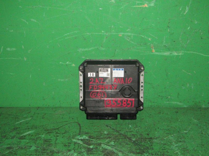 Блок управления efi Toyota Mark X Zio ANA10 2AZ-FE