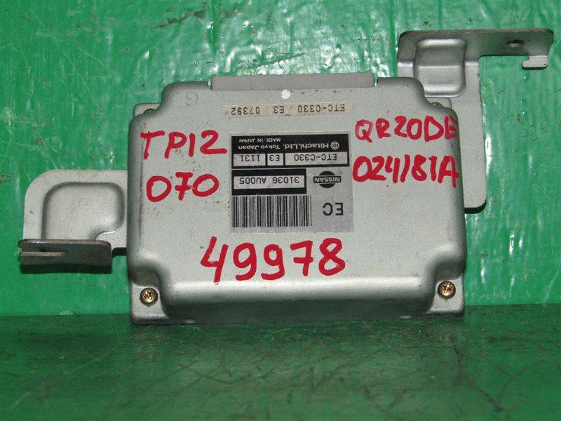 Блок управления автоматом Nissan Primera TP12 QR20DE