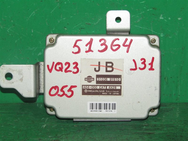 Блок управления автоматом Nissan Teana J31 VQ23DE 31036-9Y610