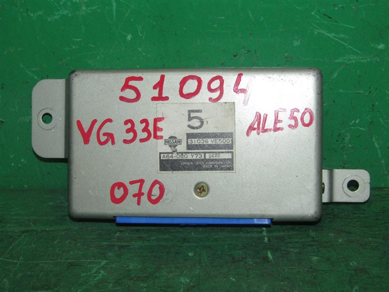 Блок управления автоматом Nissan Elgrand ALE50 VG33E