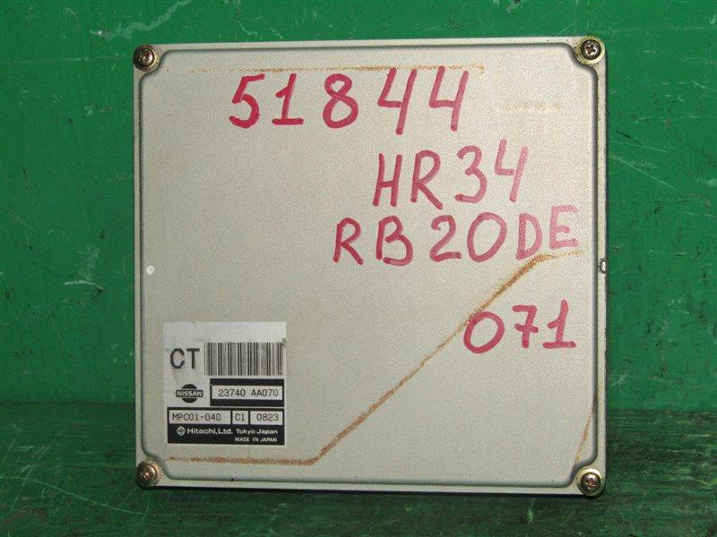 Блок управления efi Nissan Skyline HR34 RB20DE 23740-AA070