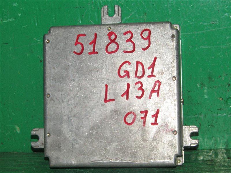 Блок управления efi Honda Fit GD1 L13A 37820-PWA-904