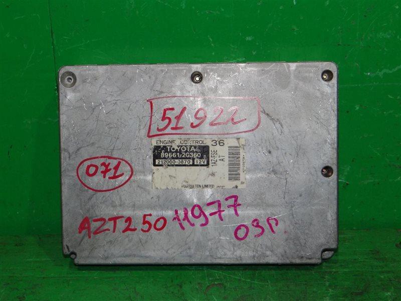 Блок управления efi Toyota Avensis AZT250 1AZ-FSE 89661-2G360