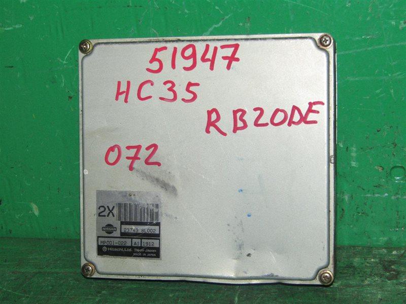 Блок управления efi Nissan Laurel HC35 RB20DE 23743-8L002