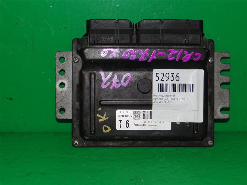 Блок управления efi Nissan March AK12 CR12DE A56-V01 T13