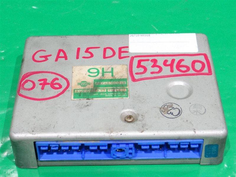 Блок управления efi Nissan Wingroad WFY10 GA15DE 23710-WC015