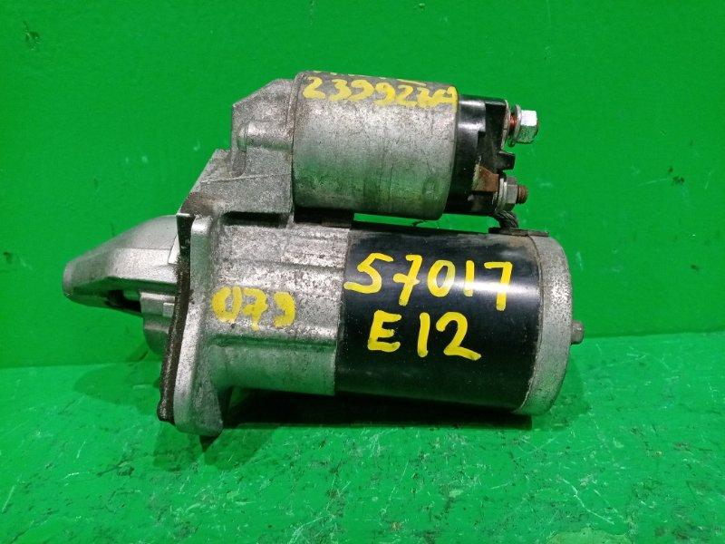 Стартер Nissan Note E12 HR12DDR RE0F11A