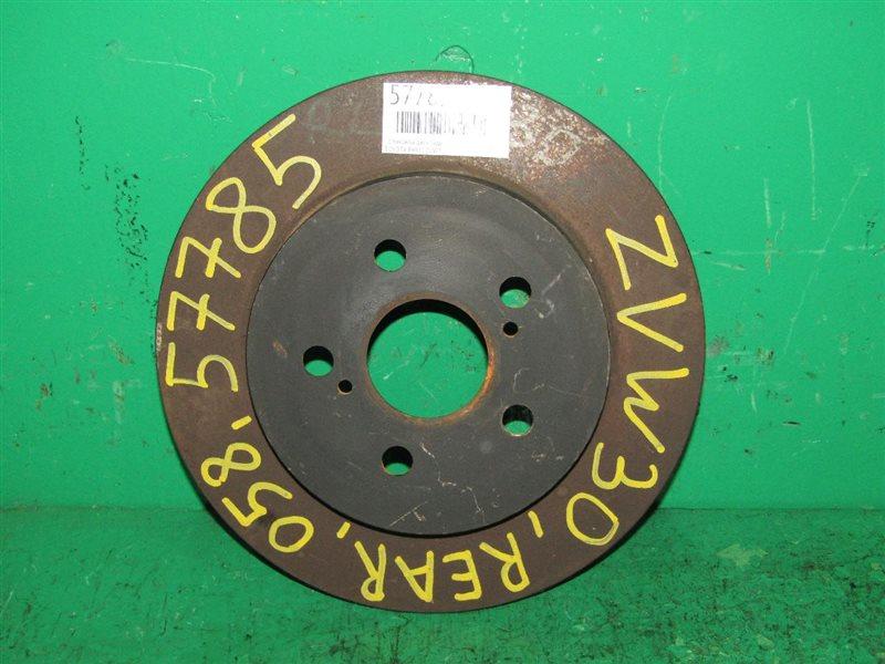 Тормозной диск Toyota Prius ZVW30 задний