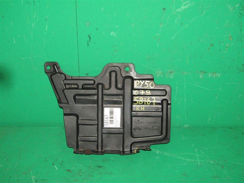 Защита двигателя Nissan Fuga Y50 передняя правая