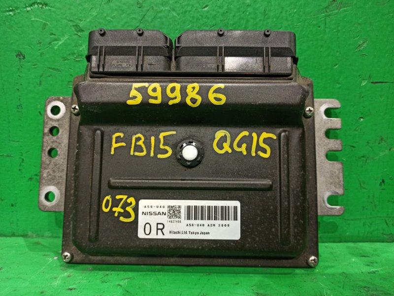 Блок управления efi Nissan Sunny FB15 QG15DE A56 U40 A2M