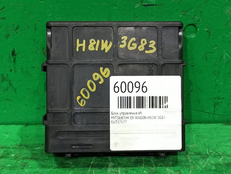 Блок управления efi Mitsubishi Ek Wagon H81W 3G83 1860A307, E6T37577