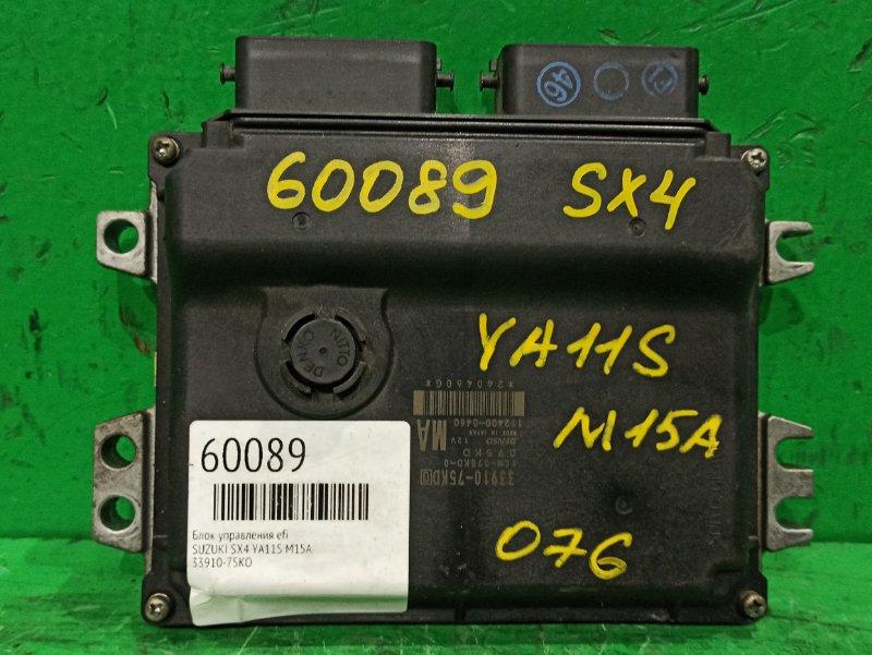 Блок управления efi Suzuki Sx4 YA11S M15A 33910-75KD0