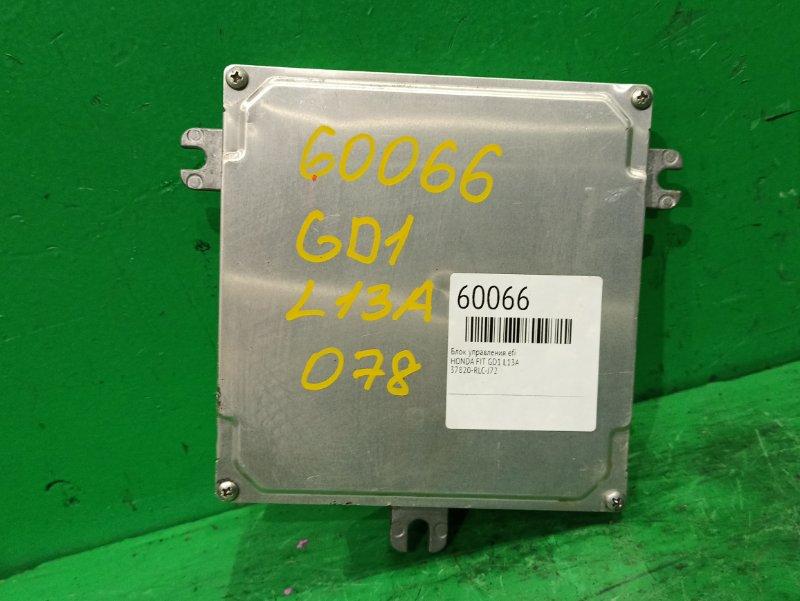 Блок управления efi Honda Fit GD1 L13A 37820-RLC-J72