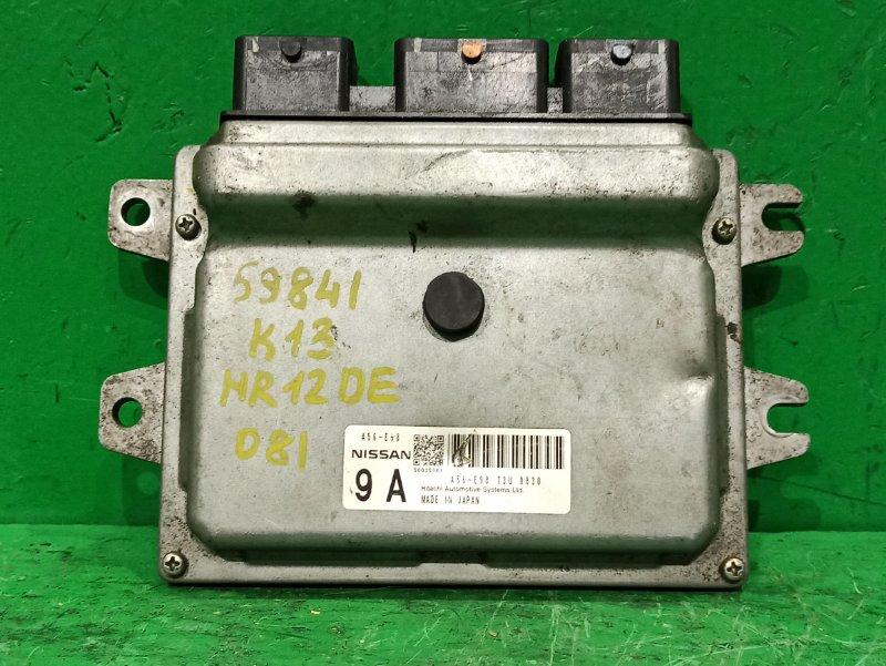 Блок управления efi Nissan March K13 HR12DE A56 E98 T3U