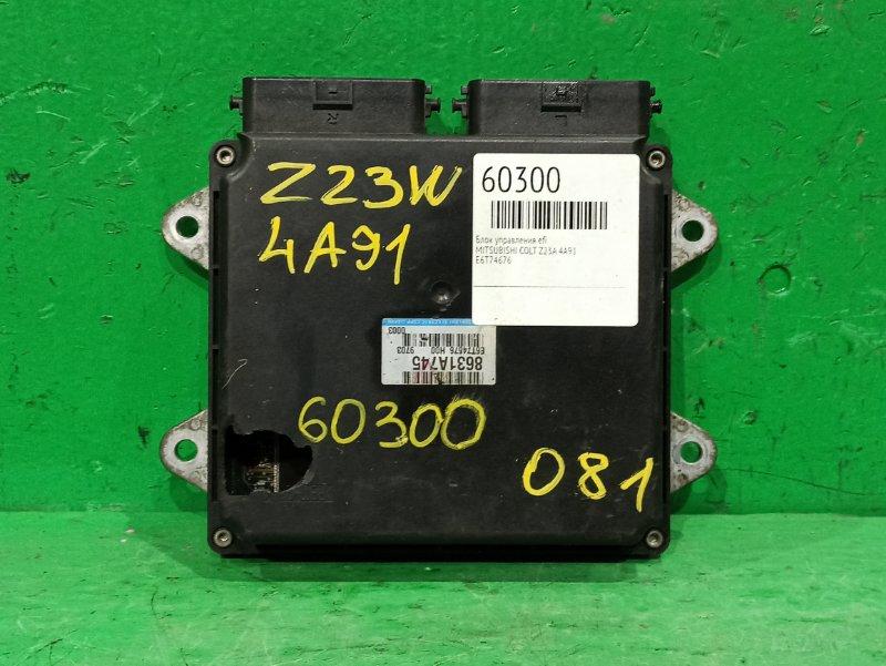 Блок управления efi Mitsubishi Colt Z23A 4A91 8631A745, E6T74676
