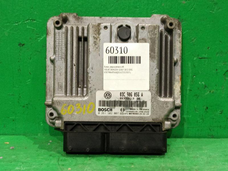 Блок управления efi Volkswagen Golf 1K1 BAG 03C906056A, 0261502007