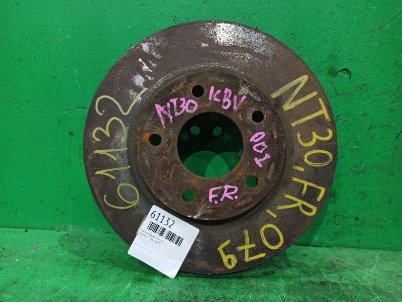 Тормозной диск Nissan X-Trail NT30 передний
