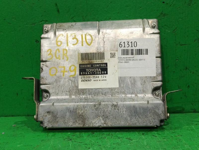 Блок управления efi Toyota Crown GRS202 3GR-FSE