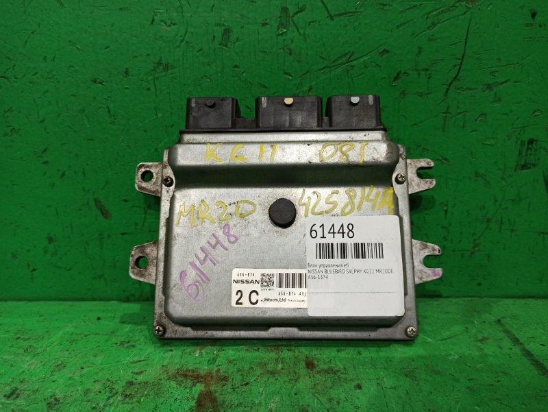 Блок управления efi Nissan Bluebird Sylphy KG11 MR20DE A56-B74
