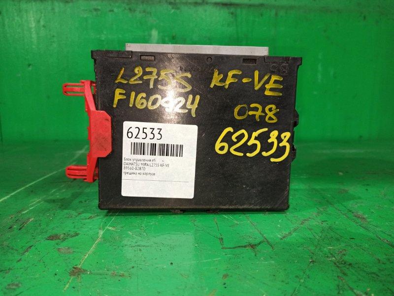 Блок управления efi Daihatsu Mira L275S KF-VE 89560-B2B70