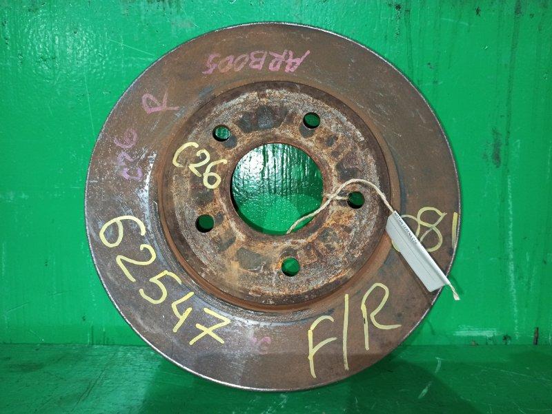 Тормозной диск Nissan Serena HFC26 передний