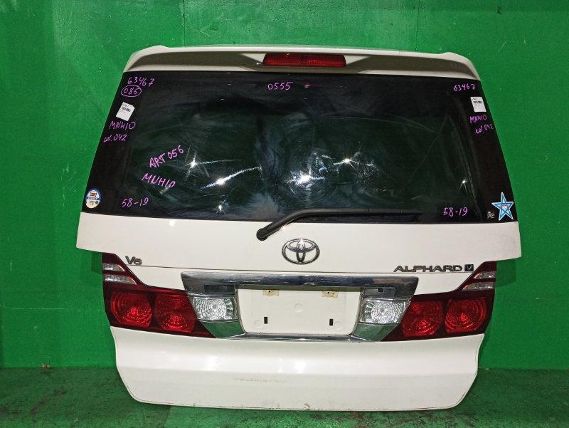 Дверь задняя Toyota Alphard MNH10 04.2005 58-19