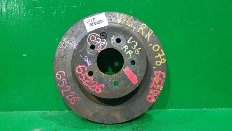 Тормозной диск Nissan Skyline V36 задний