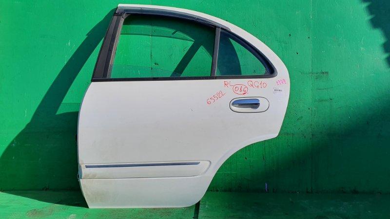 Дверь Nissan Bluebird Sylphy QG10 задняя левая