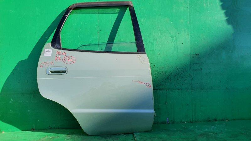 Дверь Toyota Corolla Spacio AE111 задняя правая