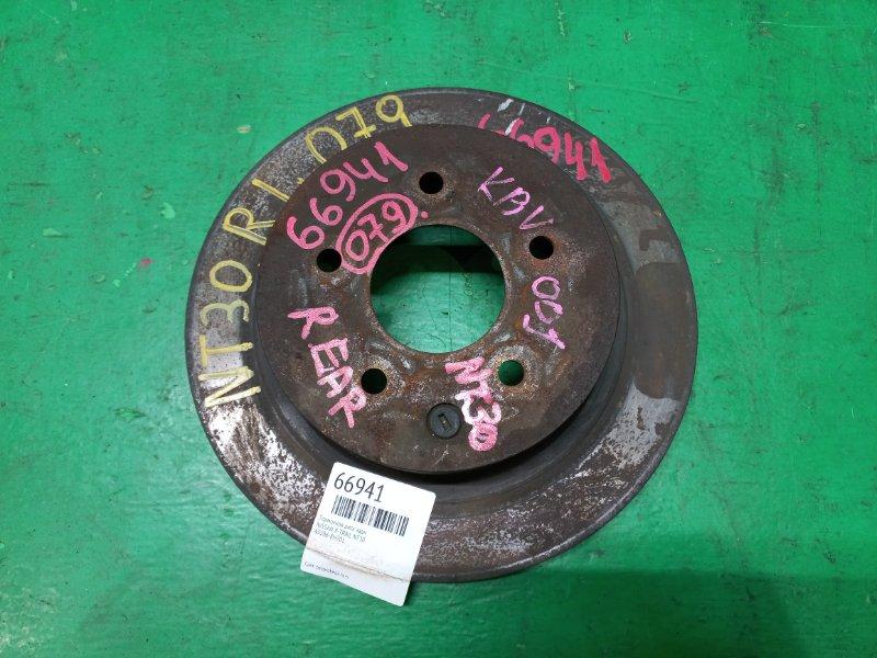 Тормозной диск Nissan X-Trail NT30 задний