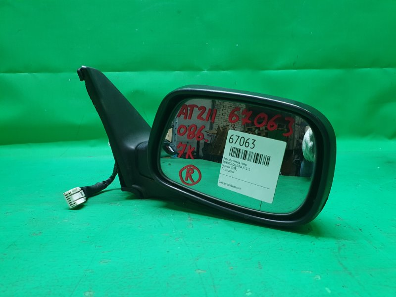 Зеркало Toyota Caldina AT211 переднее правое