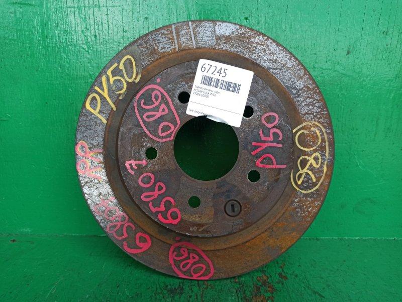 Тормозной диск Nissan Fuga PY50 задний