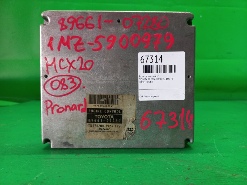Блок управления efi Toyota Pronard MCX20 1MZ-FE 89661-07280