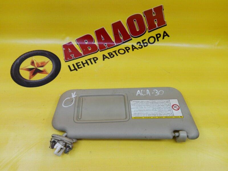 Козырек солнцезащитный Toyota Rav4 ACA31 1AZ-FE 2006 правый