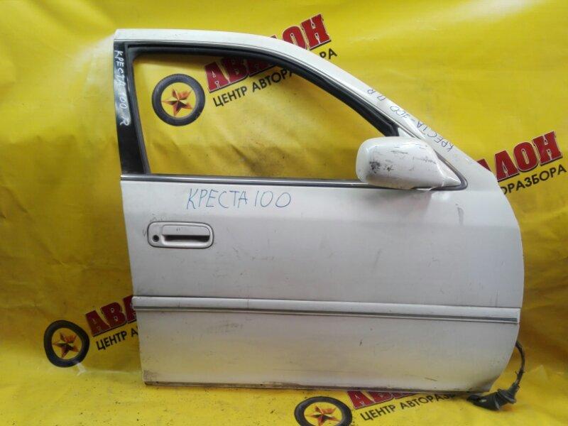 Дверь боковая Toyota Cresta X100 1G-FE 2001 передняя правая