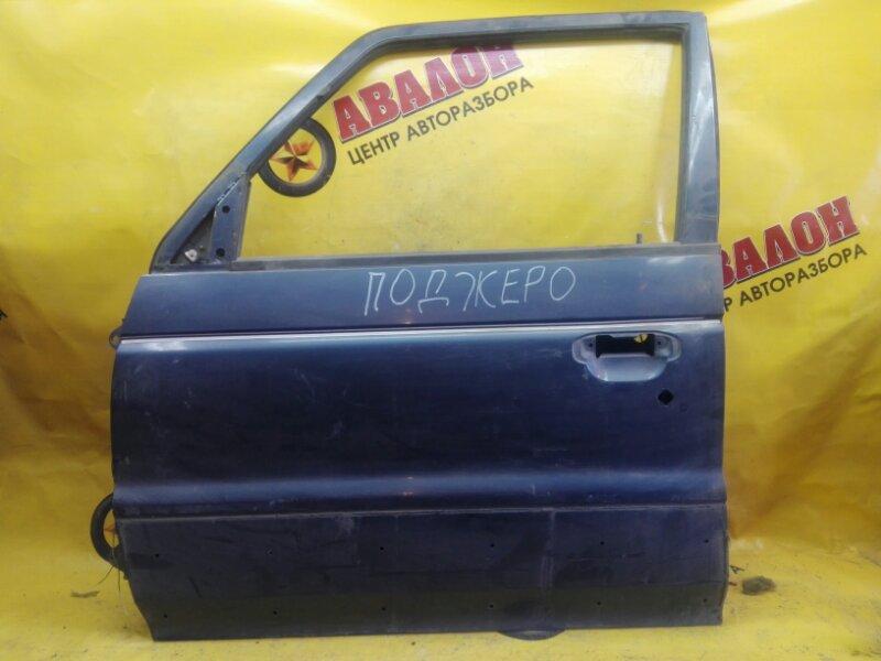 Дверь боковая Mitsubishi Pajero V43W 6G72 1997 передняя левая