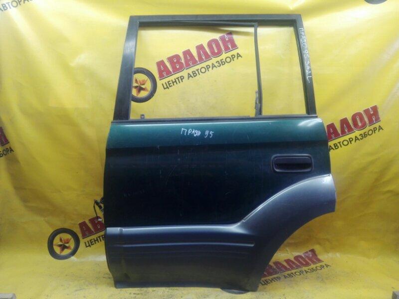 Дверь боковая Toyota Land Cruiser Prado VZJ95W 5VZ-FE 2000 задняя левая
