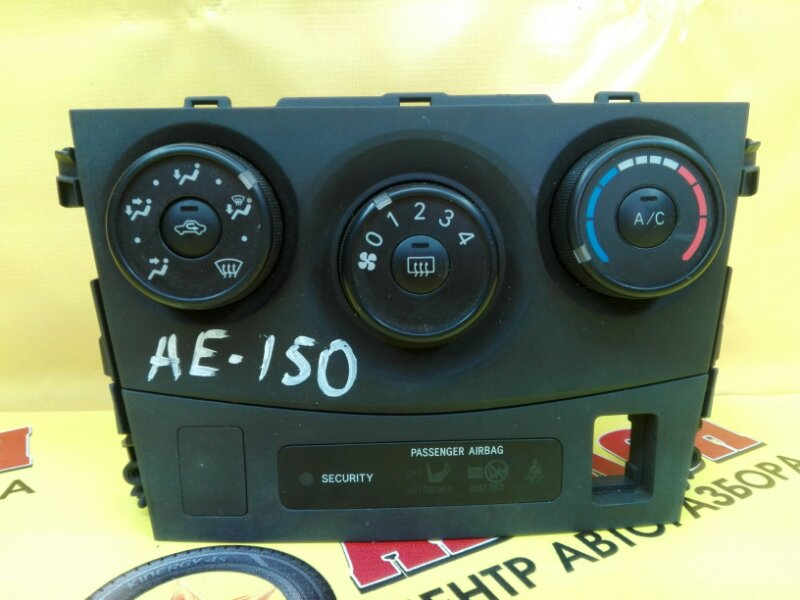 Блок управления климат-контролем Toyota Corolla ZRE151 1ZR-FE 2009