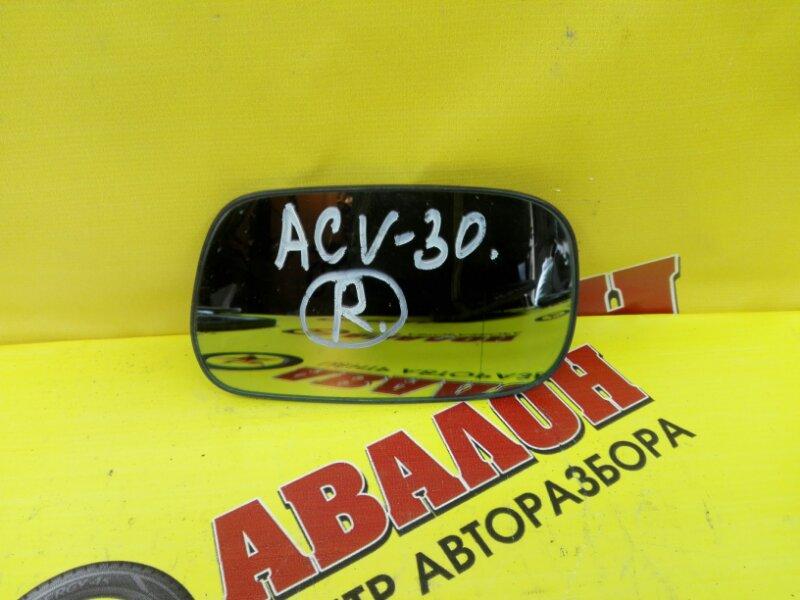 Зеркало-полотно Toyota Camry ACV30 2AZ-FE 2002 правое