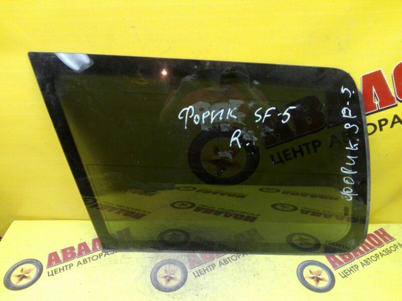 Стекло собачника Subaru Forester SF5 EJ-20 1998 заднее правое