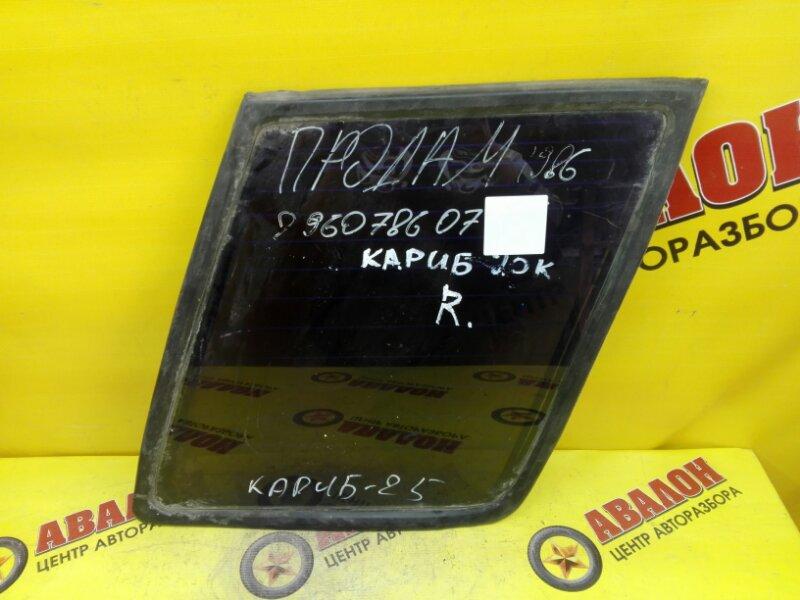 Стекло собачника Toyota Sprinter Carib AL25G 3AU 1988 правое