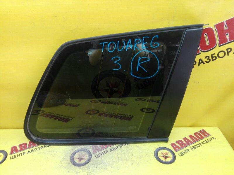 Стекло собачника Volkswagen Touareg 7LA BAC 2006 правое