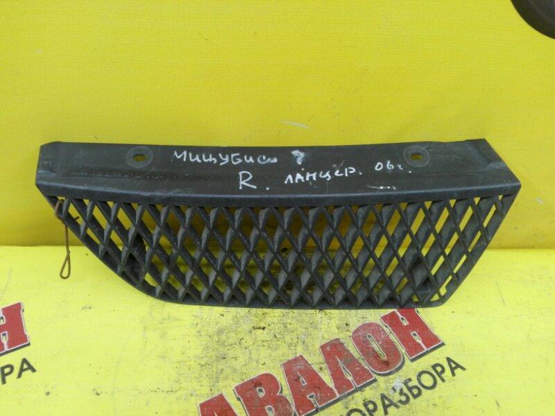 Решетка бамперная Mitsubishi Lancer CS1A 4G18 2006 правая