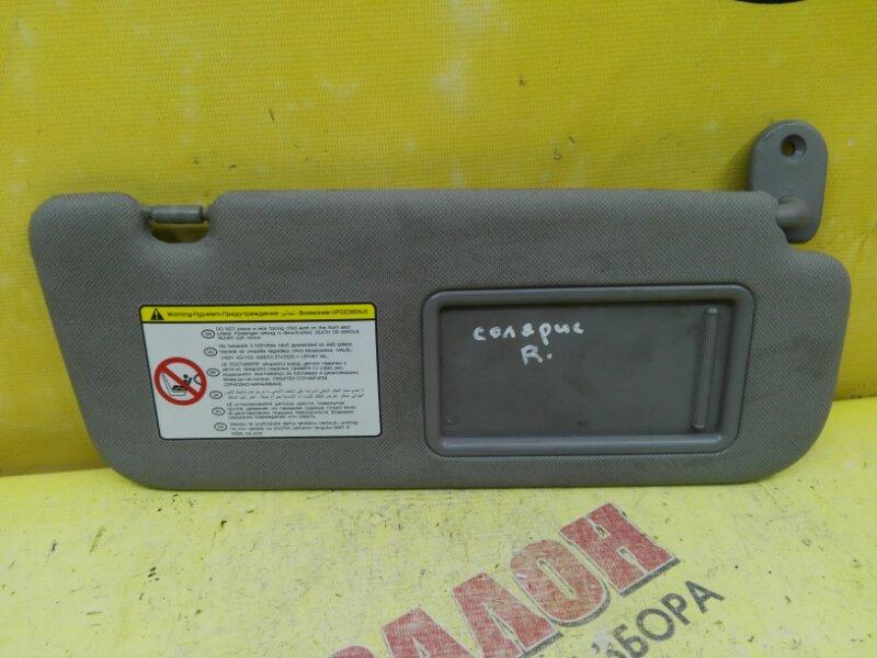 Козырек солнцезащитный Hyundai Solaris RB G4FA 2013 правый