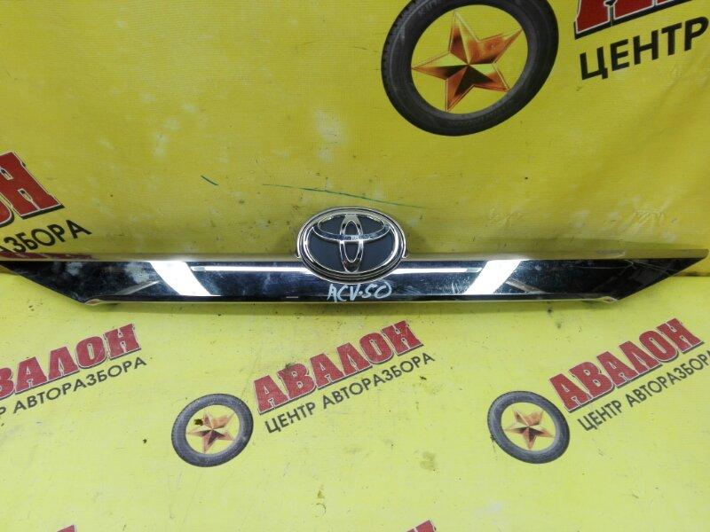 Накладка крышки багажника Toyota Camry ASV50 2AR-FE 2014