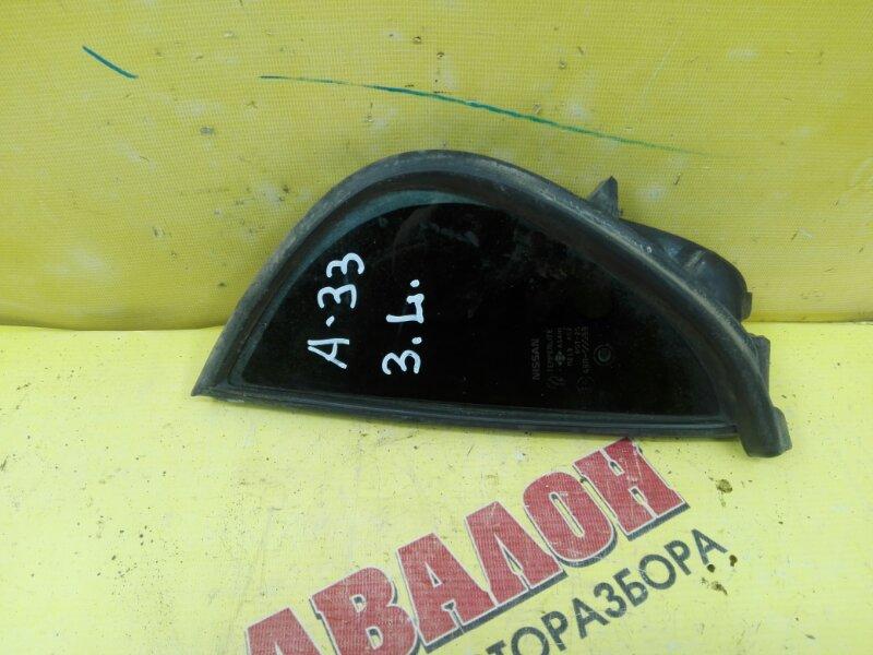 Форточка двери Nissan Cefiro A33 VQ20DD 1995 задняя левая
