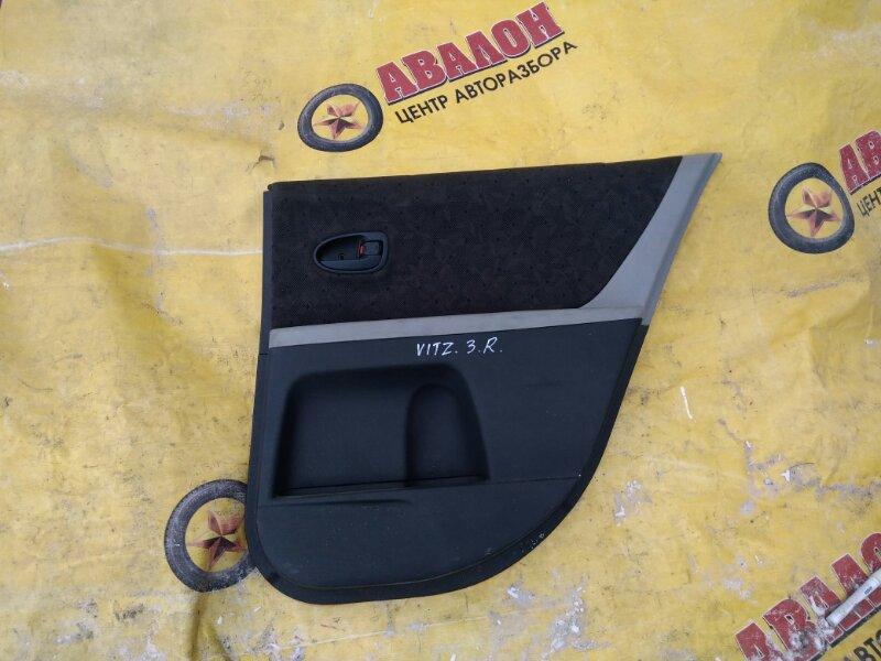 Обшивка двери Toyota Vitz NCP90 задняя правая
