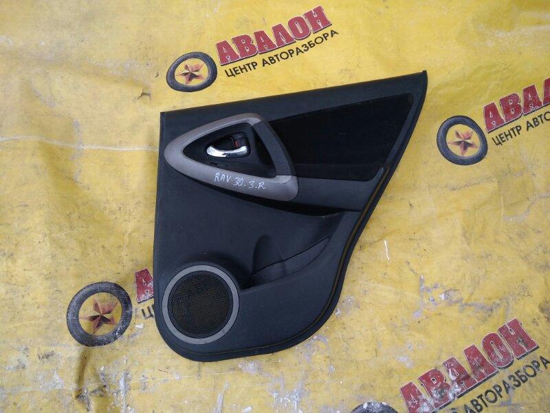 Обшивка двери Toyota Rav4 ACA31 задняя правая