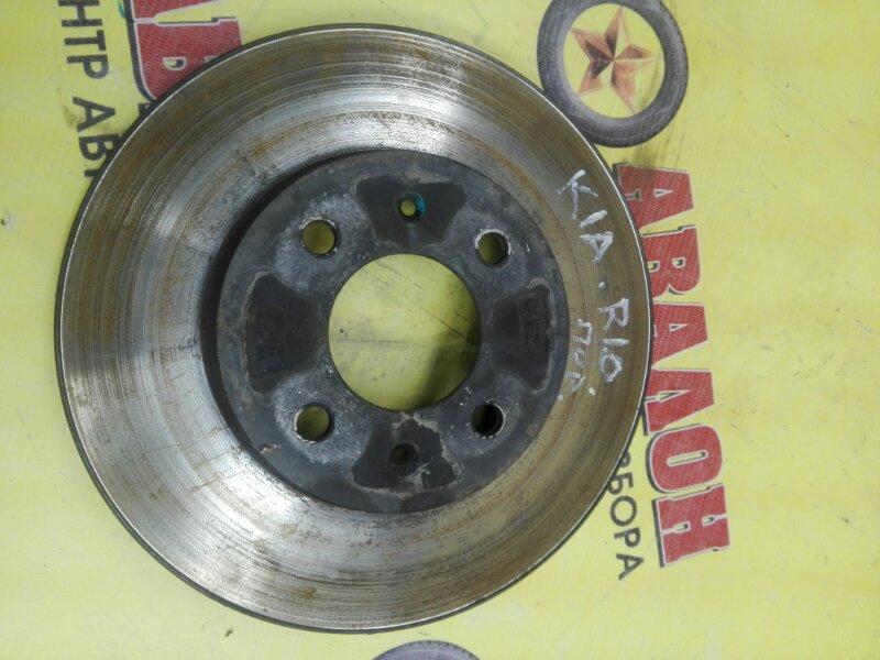 Тормозной диск Kia Rio QB G4FC 2014 передний